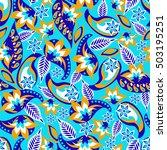 paisley seamless pattern.... | Shutterstock .eps vector #503195251