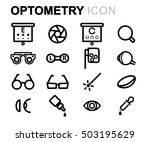 vector black line optometry... | Shutterstock .eps vector #503195629