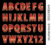 Vector Red Shiny Alphabet With...