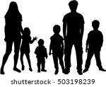 vector silhouette of family. | Shutterstock .eps vector #503198239