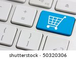 Retail Or Shopping Cart Icon On ...