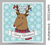 vector christmas card with... | Shutterstock .eps vector #503214694