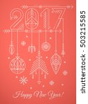 new year greeting card template ... | Shutterstock .eps vector #503215585