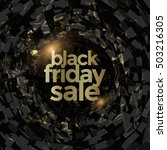 black friday sale poster design ... | Shutterstock .eps vector #503216305