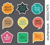 set of commercial sale stickers ... | Shutterstock .eps vector #503217475