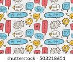 cute speech bubble seamless... | Shutterstock .eps vector #503218651
