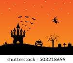 halloween orange midnight... | Shutterstock . vector #503218699
