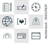 set of 9 universal editable...   Shutterstock .eps vector #503219629