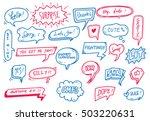 set of cute speech bubble with... | Shutterstock .eps vector #503220631