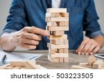businessman thinking about new... | Shutterstock . vector #503223505