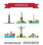 american travel set of famous...