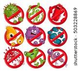 cartoon viruses characters...   Shutterstock .eps vector #503228869