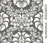 vector damask seamless pattern... | Shutterstock .eps vector #503230015
