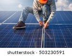 engineer working on ...   Shutterstock . vector #503230591