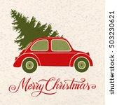christmas illustration with ... | Shutterstock .eps vector #503230621