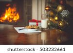 closeup image of wish list and... | Shutterstock . vector #503232661