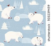 Winter Vector Seamless Pattern...