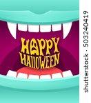 happy halloween cute cartoon... | Shutterstock . vector #503240419