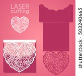 vector die laser cut envelope... | Shutterstock .eps vector #503240665