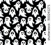 happy halloween seamless... | Shutterstock .eps vector #503241271