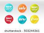colorful sale stickers set | Shutterstock .eps vector #503244361