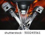 3d illustration of car engine.... | Shutterstock . vector #503245561