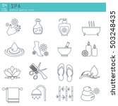 outline web icon set spa and... | Shutterstock .eps vector #503248435