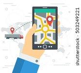 vector concept of freight... | Shutterstock .eps vector #503249221