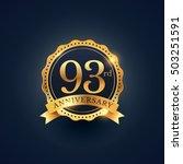 93rd anniversary celebration... | Shutterstock .eps vector #503251591