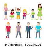 people cartoon characters set.... | Shutterstock .eps vector #503254201