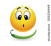 very hot chili pepper causing... | Shutterstock .eps vector #503256949