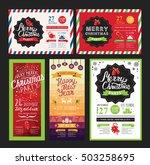 christmas restaurant brochure ... | Shutterstock .eps vector #503258695