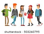 flat illustratuion set of... | Shutterstock .eps vector #503260795