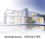 3d rendering of a luxurious... | Shutterstock . vector #503261785