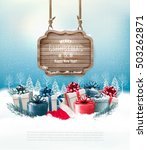 winter background with gift... | Shutterstock .eps vector #503262871