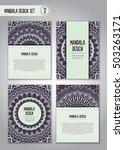 tribal mandala design set.... | Shutterstock .eps vector #503263171
