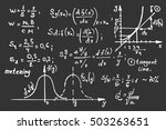 education background. math... | Shutterstock .eps vector #503263651