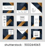 abstract vector layout... | Shutterstock .eps vector #503264065