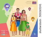 hawaiian family in national... | Shutterstock .eps vector #503265241