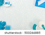 a lot of cleaning tool tile... | Shutterstock . vector #503266885