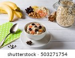 oatmeal porridge with dried... | Shutterstock . vector #503271754