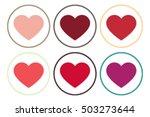 heart icon vector.valentine... | Shutterstock .eps vector #503273644