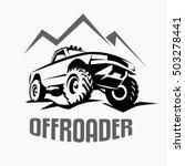 offroad suv car monochrome... | Shutterstock .eps vector #503278441