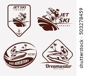 jet ski set of stylized vector... | Shutterstock .eps vector #503278459