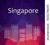 banner with singapore. vector... | Shutterstock .eps vector #503278645