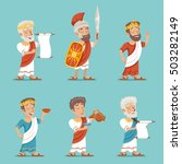 greek roman retro vintage... | Shutterstock .eps vector #503282149