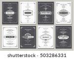 monogram creative cards... | Shutterstock .eps vector #503286331