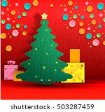 christmas background made of... | Shutterstock .eps vector #503287459