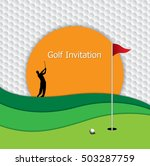 golf tournament invitation... | Shutterstock .eps vector #503287759