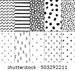 set of seamless patterns with... | Shutterstock .eps vector #503292211